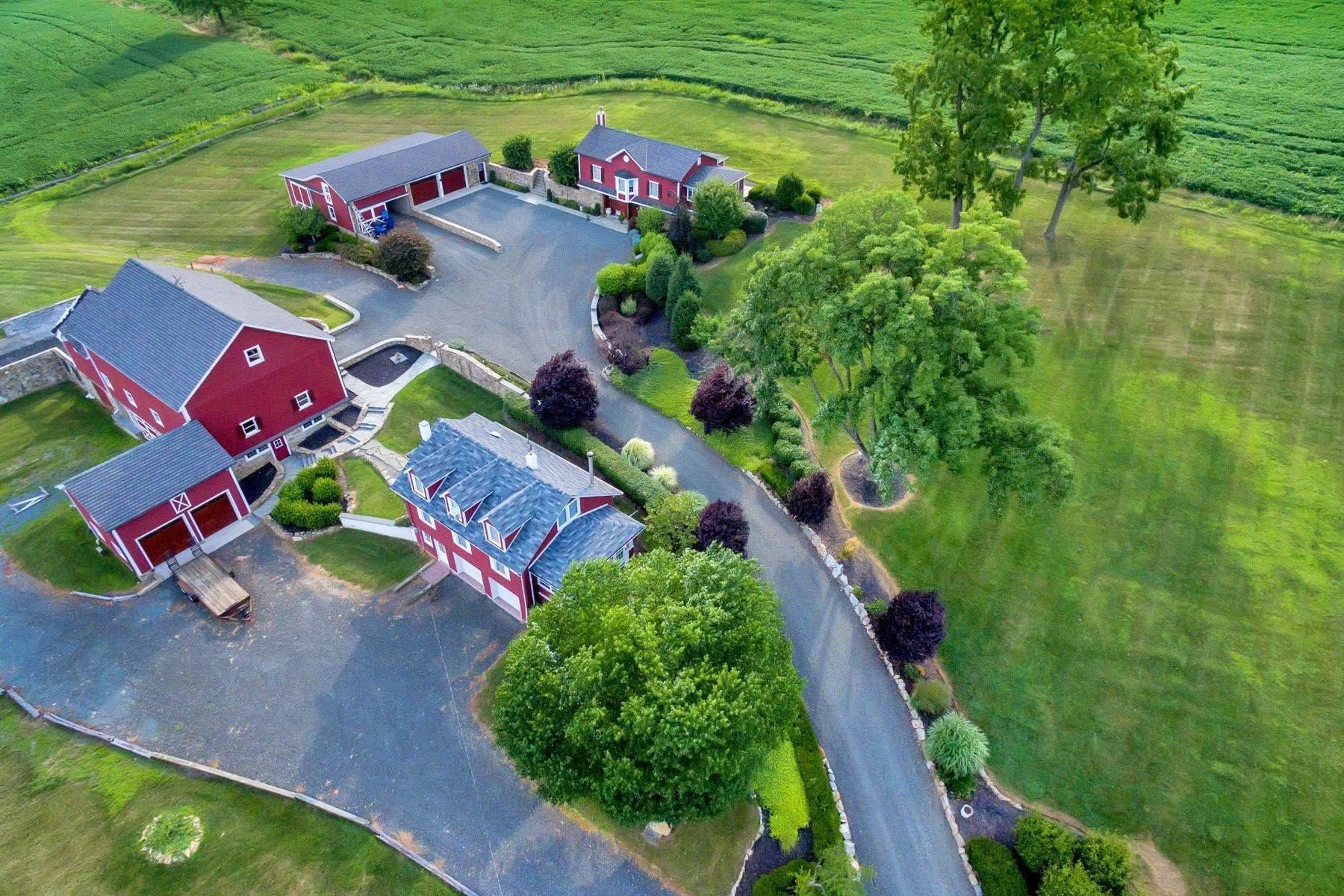 Single Family Homes for Sale at Magnificently Restored Farm 109 Old Turnpike Road, Tewksbury Township, New Jersey 08858 United States