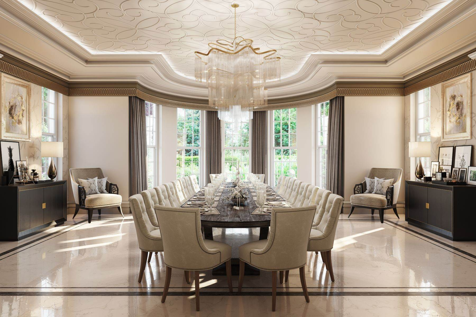 9. Single Family Homes for Sale at Hampton Hall Queens Drive London, England KT22 0PB United Kingdom