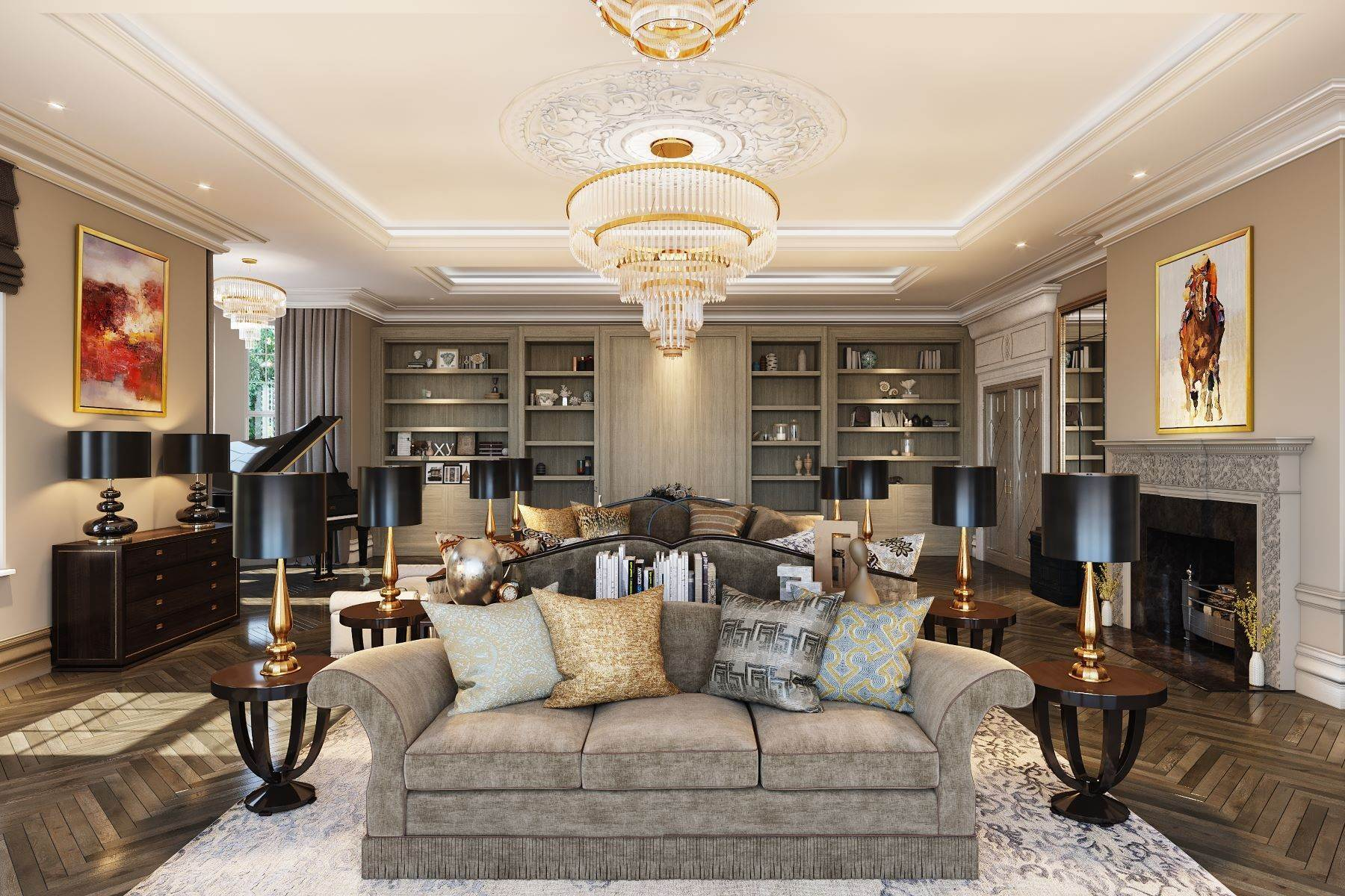 8. Single Family Homes for Sale at Hampton Hall Queens Drive London, England KT22 0PB United Kingdom