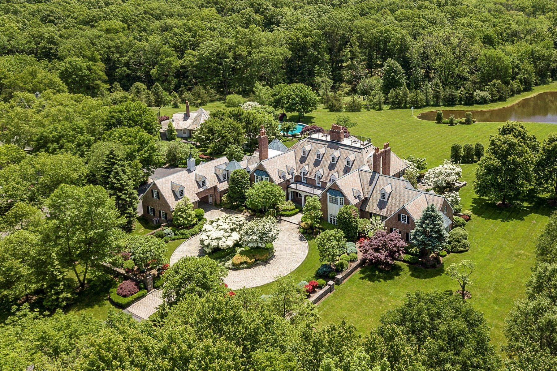 3. Single Family Homes pour l Vente à Private Compound with Every Amenity Imaginable 82 Aunt Molly Road, Hopewell, New Jersey 08525 États-Unis