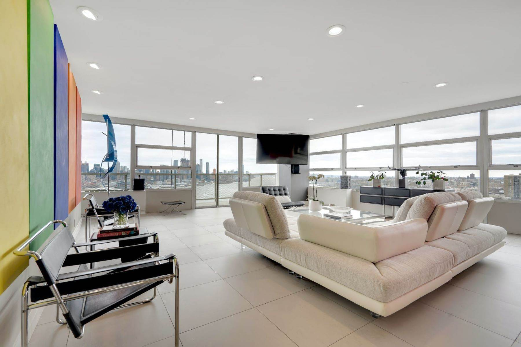 Condominiums for Sale at Rare Combination Penthouse Opportunity at Tower West 6050 BLVD East #PHH, West New York, New Jersey 07093 United States