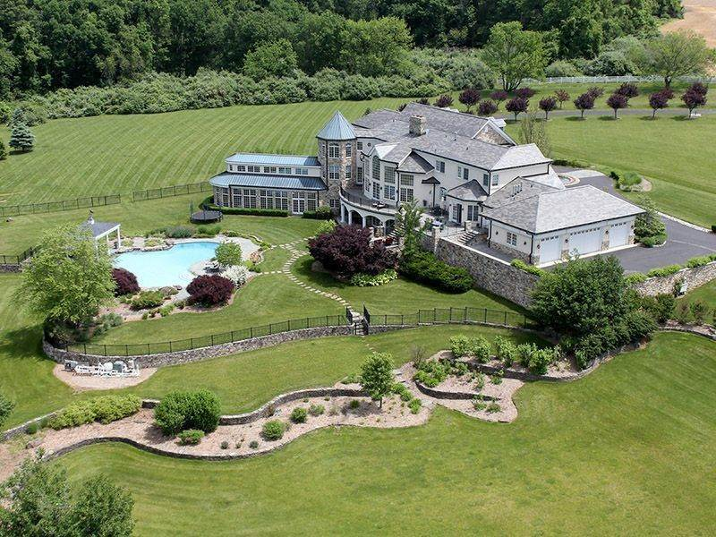 23. Single Family Homes للـ Sale في Offers Ideal Setting For Country Estate 131-133 Harbourton Woodsville Road, Lambertville, New Jersey 08530 United States