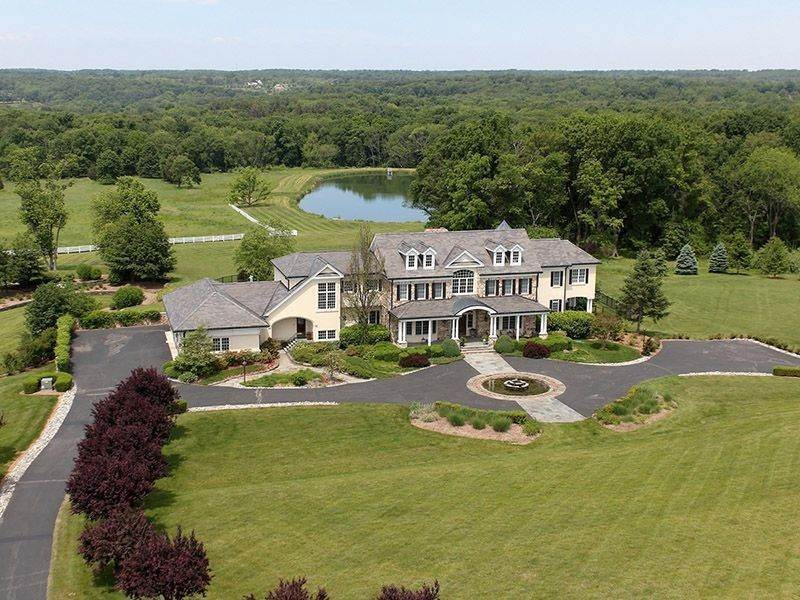 25. Single Family Homes للـ Sale في Offers Ideal Setting For Country Estate 131-133 Harbourton Woodsville Road, Lambertville, New Jersey 08530 United States