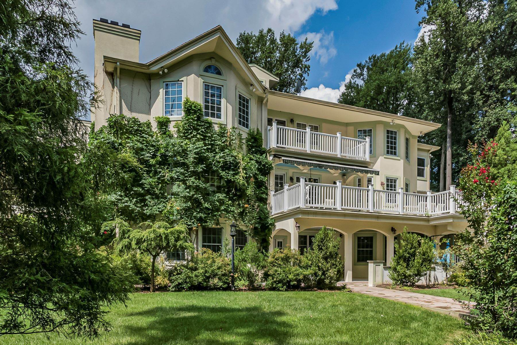 Single Family Homes for Sale at A Sprawling Showplace Where East Meets West 76 Pettit Place, Princeton, New Jersey 08540 United States