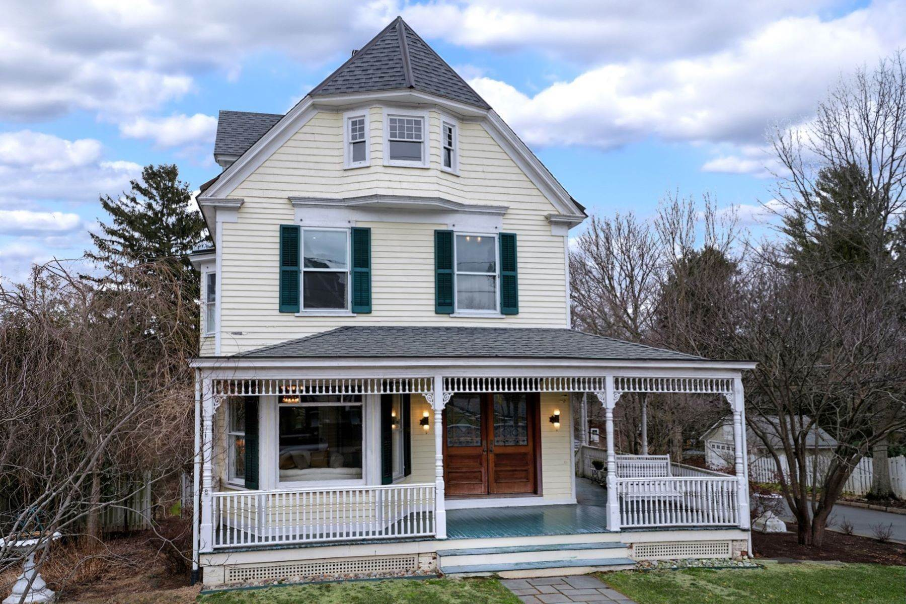 Single Family Homes for Sale at Elegant Victorian Proudly Perched in Hopewell Boro 96 West Broad Street, Hopewell, New Jersey 08525 United States