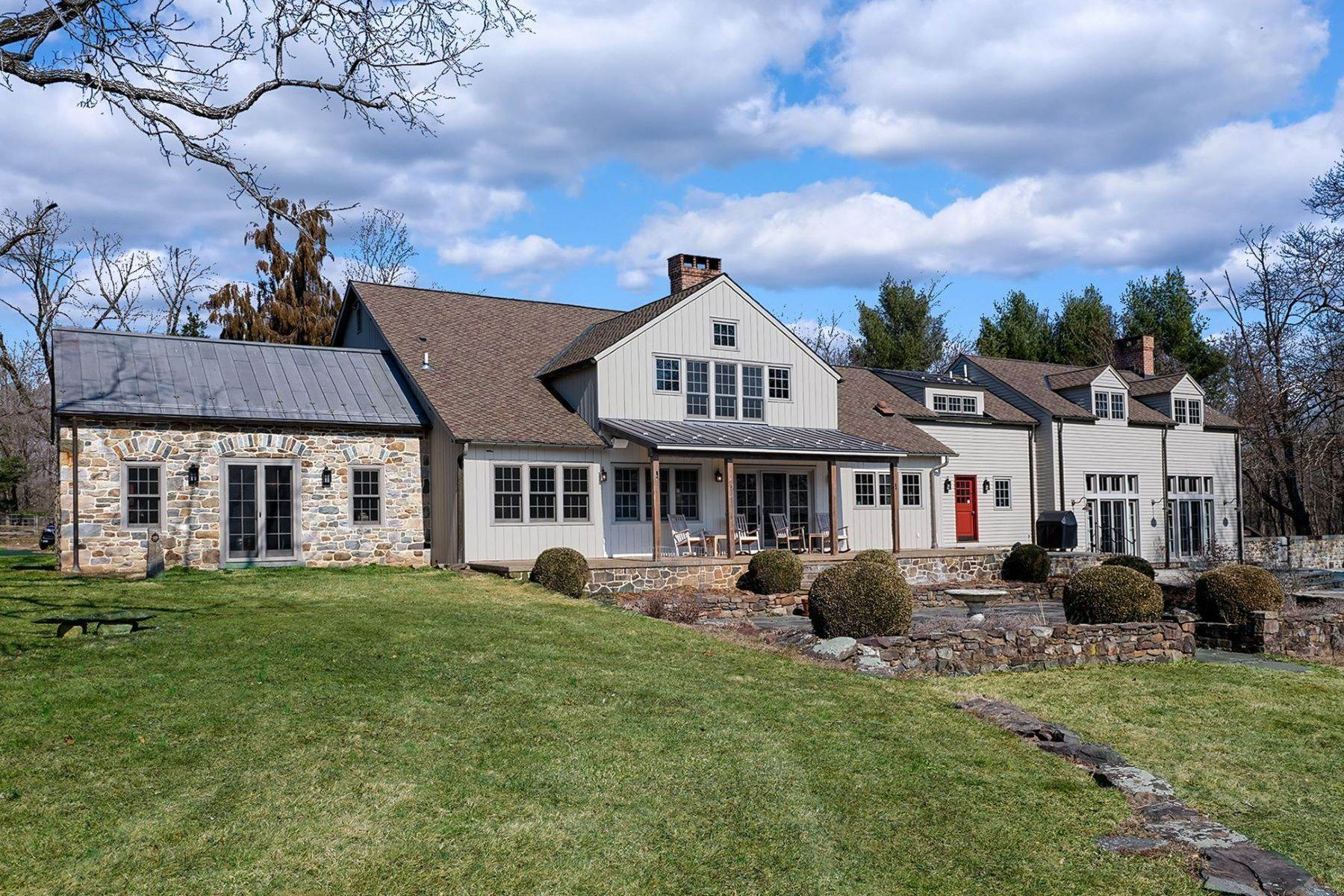 Farm and Ranch Properties per Vendita alle ore Idyllic Historic Farm With Rich, Modern Finishes 111 East Prospect Street, Hopewell, New Jersey 08525 Stati Uniti