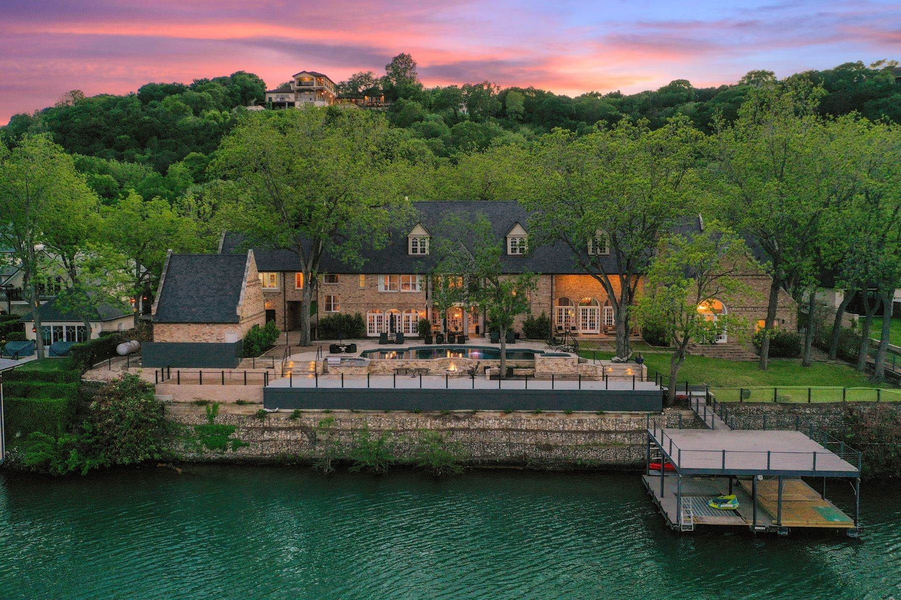 Single Family Homes für Verkauf beim One-Of-A-Kind European Chateau on Lake Austin 1209 North Weston Lane, Austin, Texas 78733 Vereinigte Staaten