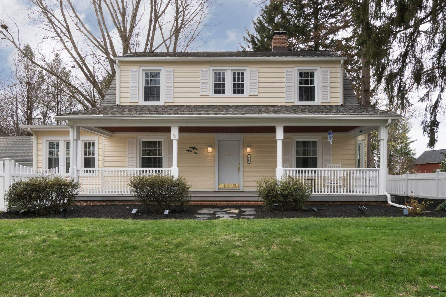 Single Family Homes for Sale at Renovated and Rejuvenated Inside and Out 407 Village Road East, Princeton Junction, New Jersey 08550 United States