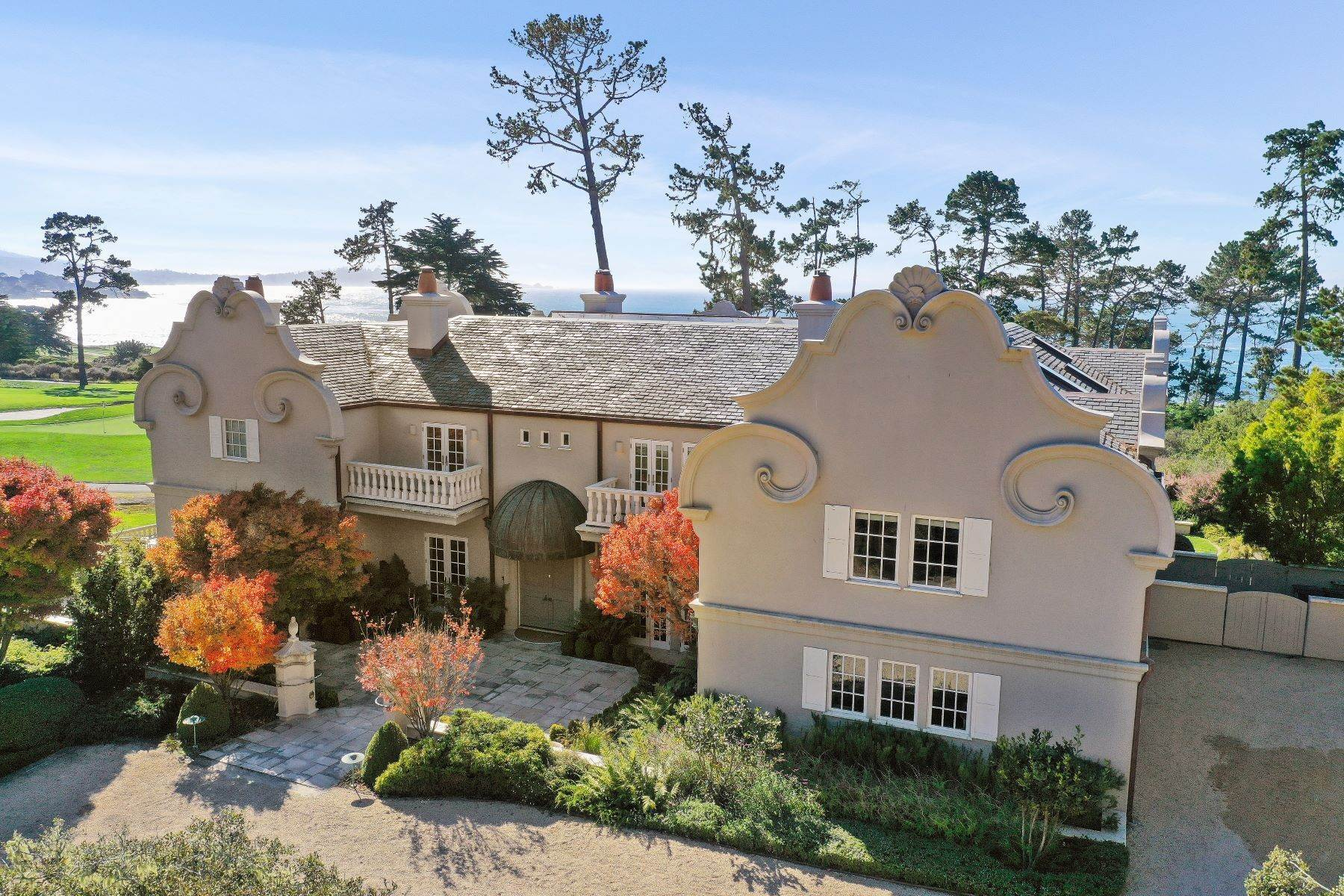 Single Family Homes for Sale at Sophisticated Pebble Beach Estate 3410 17 Mile Drive, Pebble Beach, California 93953 United States