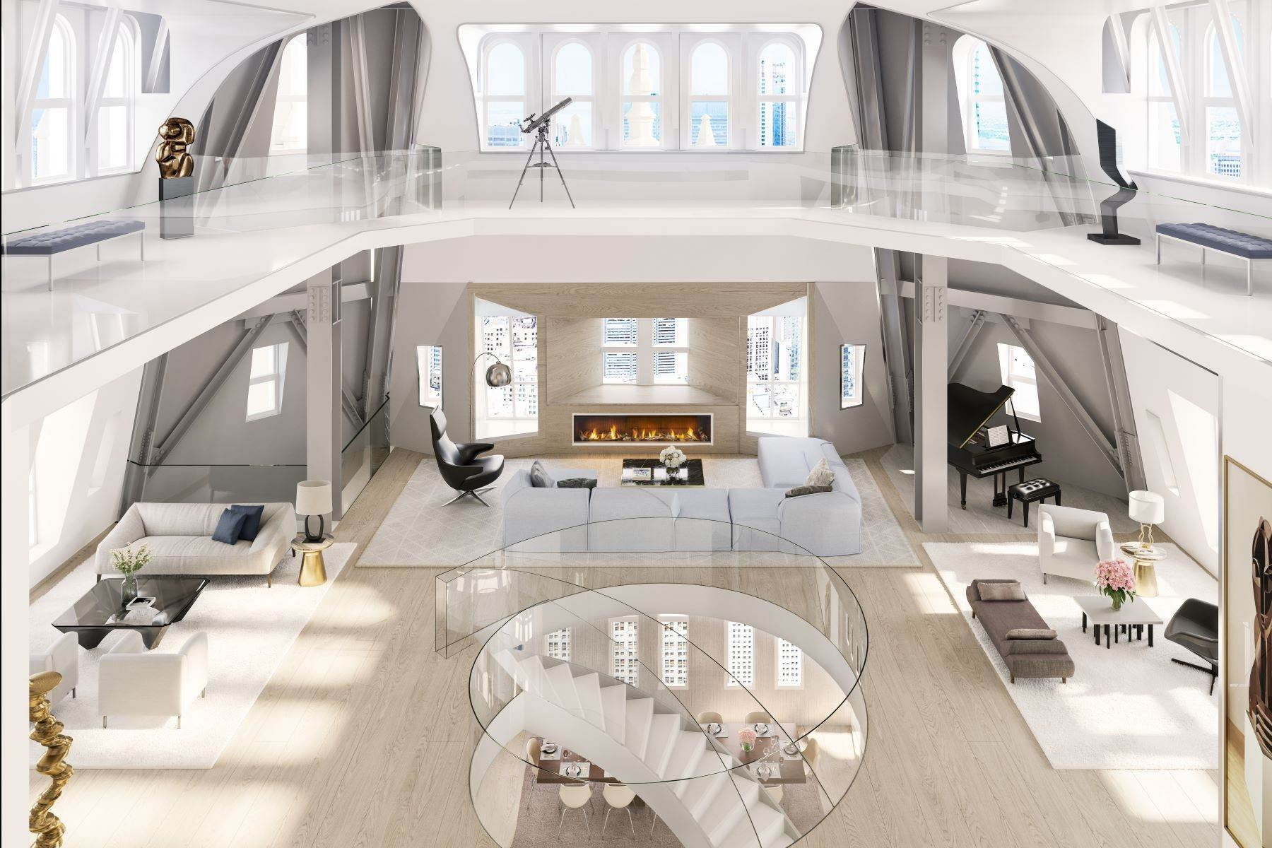 5. Condominiums for Sale at The Pinnacle Penthouse 2 Park Place, Pinnacle Penthouse, New York, New York 10007 United States