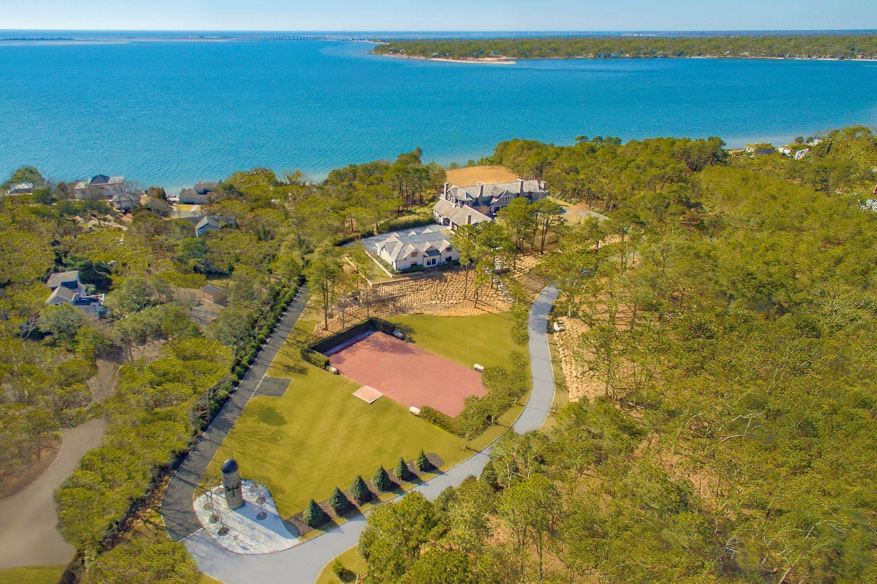 Single Family Homes at Fantastic Southampton Bay View Estate 660 Montauk Highway, Southampton, New York 11968 United States