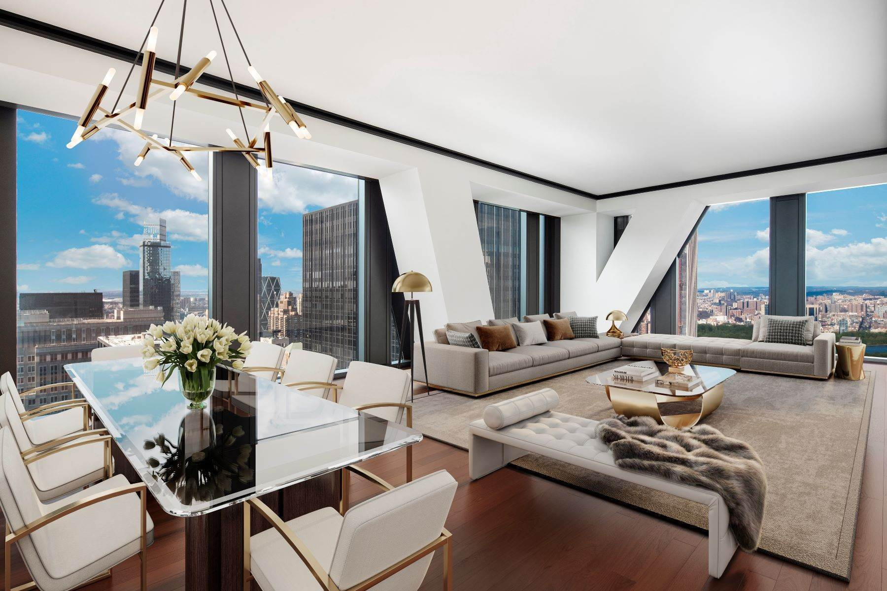 Condominiums om 53W53 - High above MOMA 3BR Park View 53 West 53rd Street, 53B, New York, New York 10019 Verenigde Staten